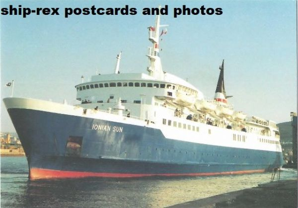 IONIAN SUN (Swansea-Cork Ferries) postcard